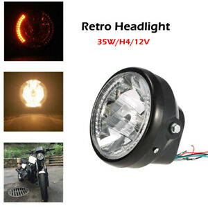 """7"""" Vintage Metal Headlight Lamp for Copper Style Cafe Racer Bobber Motorcycle"""