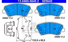 4x ATE Pastillas de Freno Delanteras 13.0460-5645.2