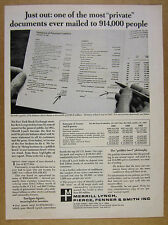1968 Merrill Lynch Annual Report 1967 Balance Sheet photo vintage print Ad