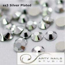 ss3 (1.3-1.5mm) Silver Plated Glue On Rhinestones for Nail Art, 1440pcs/Pack
