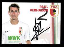 Paul Verhaegh Autogrammkarte FC Augsburg 2015-16 Original Signiert+A 161881