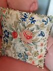 Antique Needlework Tapestry  Cushion   with flowers all hand stiched