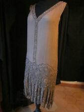 Robe perlée ancienne vers 1927