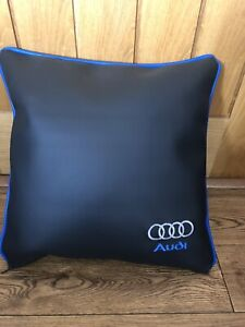 "Faux Leather Audi  17"" Cushion Cover With Fibre Filled Inner Brand New Blue"