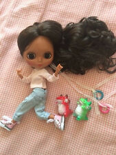 """12"""" Blythe Nude Doll from Factory Dark Skin Black Hair  joints body TBY371"""