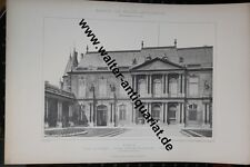 7 große Fotodrucke von 1892 Paris Hotel de Soubise Palais Royal Kirche Sarbonne