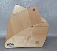 Anolon Advanced Wood Cutlery Knives Block with Cutting Board