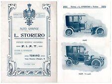 CATALOGO STORERO TORINO AG  AUTOMOBILI FIAT AUTO OMNIBUS PHAETON CUPE' 1906