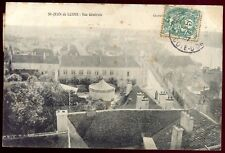 CPA St-Jean de Losne . vue générale .manège Forain.roulotte .Bourgogne Côte d'Or