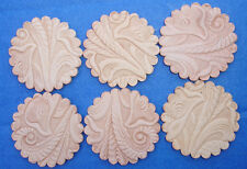 Western Equestrian Decor Scalloped Embossed Leather Concho Rosette Adapters 2""
