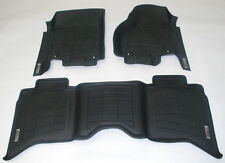 First + Second Row Floor Mats in Black for 2007 - 2011 Toyota Tundra Double Cab