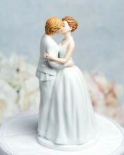 Romance Lesbian Brides Porcelain Wedding Cake Topper