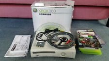 Xbox 360 Pro 60 GB Console - White, with 6 games. CD drawer doesn't open.