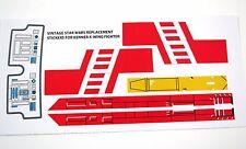 Kenner X-wing Xwing 1978 -82 Vintage Star Wars replacement Sticker set +BONUS