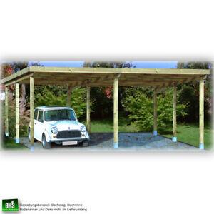 Doppelcarport 6x5 mtr., Holz-Konstruktion, für verschiedene Dachbeläge geeignet