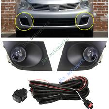 Bumper Bezel Fog Lamp Light Wiring Switch Kit for Nissan Tiida Versa 2009-2013