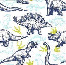 2 Serviettes en papier Dinosaures Decoupage Paper Napkins Dinosaurs