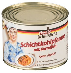 NEU! Original Schulküche - Schichtkohlpfanne mit Kartoffeln 500 g (5,98 € /kg)