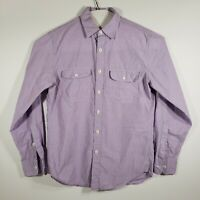 J Crew Mens Small Shirt Button Up 2-Ply 100% Cotton Long Sleeve Lilac