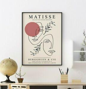 Henri Matisse Exhibition Poster Print, Interior Design, Floral Wall Art Decor