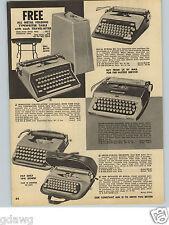 1960 PAPER AD Remington Travel Riter Royal Futura Portable Typewriter Royalite
