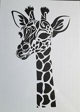 Stencil Schablone Textilgestaltung Airbrush Giraffe  A 4