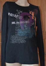 Joli tee-shirt manches longues femme noir HUGO BOSS taille M