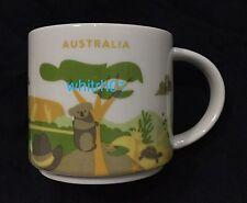 Starbucks Australia Mug YAH Koala Kangaroo You Are Here Ayers Turtle Outback