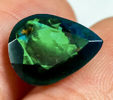 2.15Ct Ethiopian Play Of Color Black Opal Faceted Cut Heated QOP5532