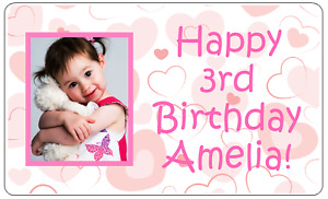 Happy Birthday Photo Sticker/Label - Personalised