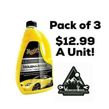 (Pack of 3) Meguiar's Ultimate Wash and Wax, Hydrophobic Polymer Technology 48oz