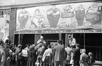 "1941 Sideshow, Vermont State Fair Vintage Photograph  11"" x 17"" Reproduction"
