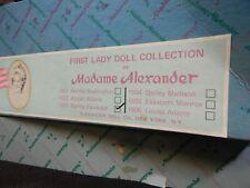 VINTAGE MADAME ALEXANDER DOLL FIRST LADY DOLL COLLECTION #1503 MARTHA RANDOLPH
