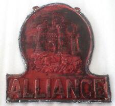 Antique Cooper Insurance Sign Plate British Fire Mark - ALLIANCE - ORIGINAL