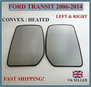 FITS FORD TRANSIT 2006-2014 HEATED WING MIRROR GLASS DIRECT REPLACEMENT PAIR L+R