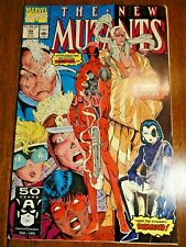 New Mutants #98 Hot Key FVF 1st Deadpool Gideon Domino Cable X-men Print Marvel