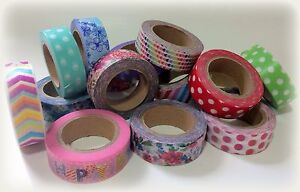 floral, patterned and plain matt washi tape *£1 per roll*