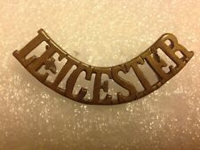 SHOULDER TITLE-PRE 1902 LEISTERSHIRE REGIMENT 'LEICESTER' British Army Military