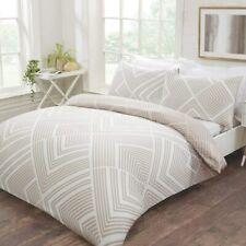 Striped Geometric Bedding - Reversible Duvet Cover and Pillowcase Set