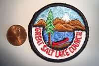 OA GREAT SALT LAKE COUNCIL SCOUT FLAP CANOE SMALL POCKET PATCH