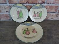 Rare Early 20th Century Royal Doulton Seriesware Springtime Plates.