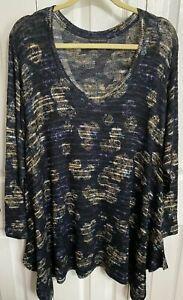 Nally & Millie Long Sleeve, Multi-Color, 2x Top,  NWOT