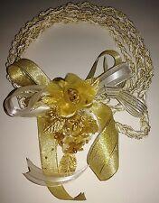 Wedding Rope,Cord Gold and White. Lazo de Boda Blanco y Oro