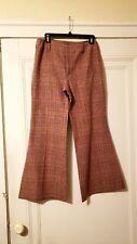 70s Red Wool Hip Hugger Pants