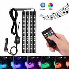 Car Interior RGB LED Strip Lights 5050 12V IP65 Waterproof Music +Controller D