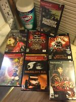 Lot Of 7 Original Owner PS2 Games Onimusha 2 Jak Rune Smugglers Run Pirates