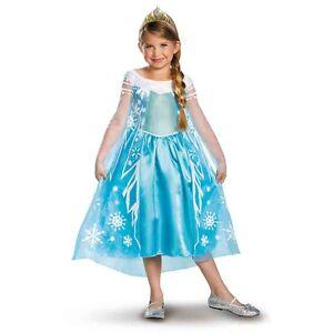 Frozen Princess Elsa Deluxe Aqua Blue Dress Child Costume/Tiara Disguise 56998