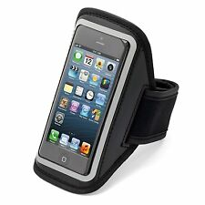 Aduro U-Band Black Reflective Armband for iPhone 5 with Hideaway Key Pocket
