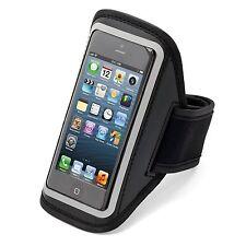 Aduro U-Band Black Reflective Armband for iPhone 5 with Hideaway Key Pocket