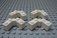 NEW Lego WHITE HINGE Hinged BRICK 1x4 Swivel - Complete Assembly Lot of Four